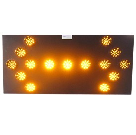 Road Safety Signages Traffic Network Flashing Arrow